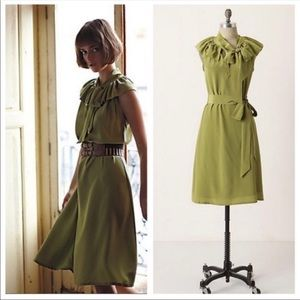 Anthro Girls From Savoy Silk Dress
